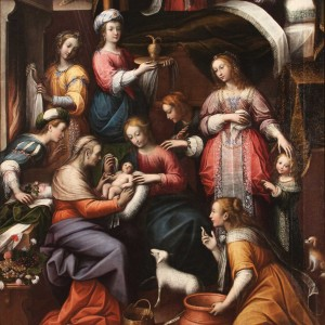 Orsola Maddalena Caccia – The Birth of St. John the Baptist (Nascita di San Giovanni Battista)