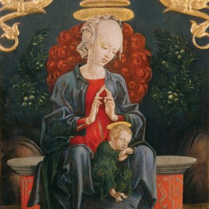 Cosmè Tura – Madonna and Child in a Garden
