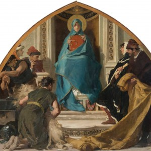 Nicolò Barabino – Faith with Representations of the Arts (La Fede con i Rappresentanti delle Arti)