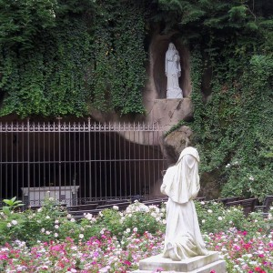 Lourdes Grotto Mary and St. Bernadette