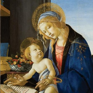 Botticelli Sandro Madonna of The Book Poldi Pezzoli