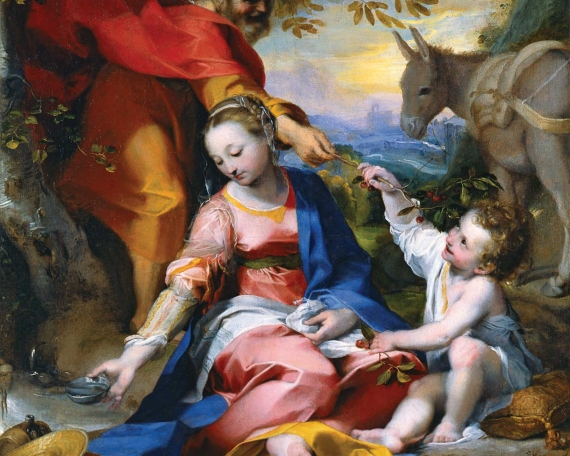 Federico Barocci – Rest on the Flight into Egypt (Il Riposo durante la Fuga in Egitto), also called Madonna of the Cherries (La Madonna delle Ciliegie)