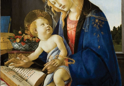 Sandro Botticelli (Alessandro Filipepi) – Madonna and Child (Madonna col Bambino), also called Madonna of the Book (Madonna del Libro)
