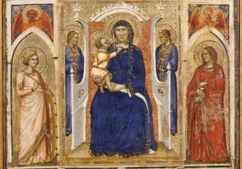 Puccio Capanna – Madonna and Child with Annunciation and Female Saints (Regina Virginum)
