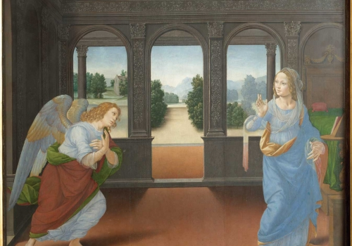 Lorenzo di Credi – The Annunciation and Three Stories from Genesis (Annunciazione e Tre Storie della Genesi)